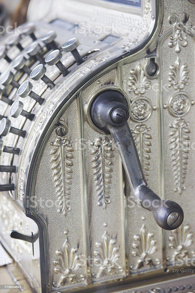Cash Register Vintage Retail Store Sales Equipment stock photo