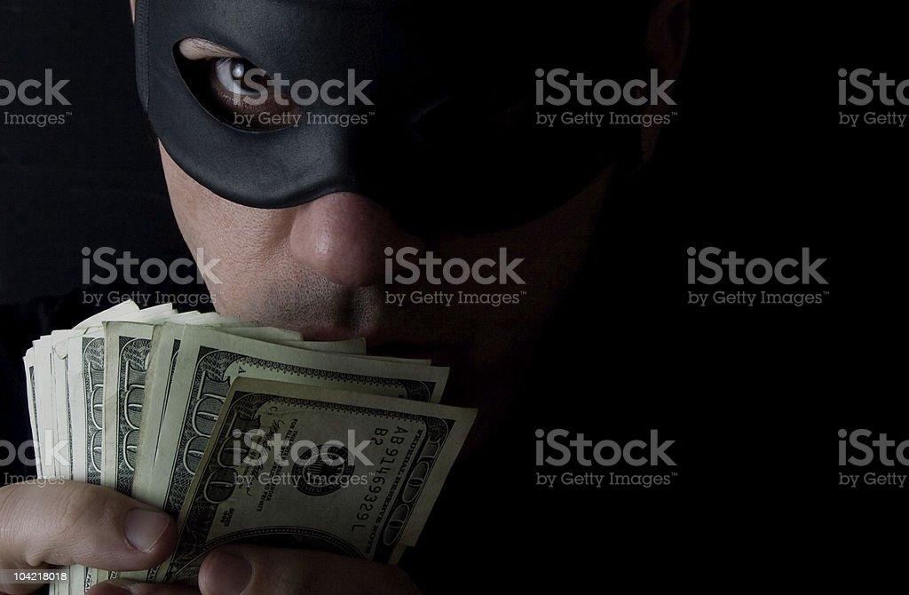 Cash Thief stock photo