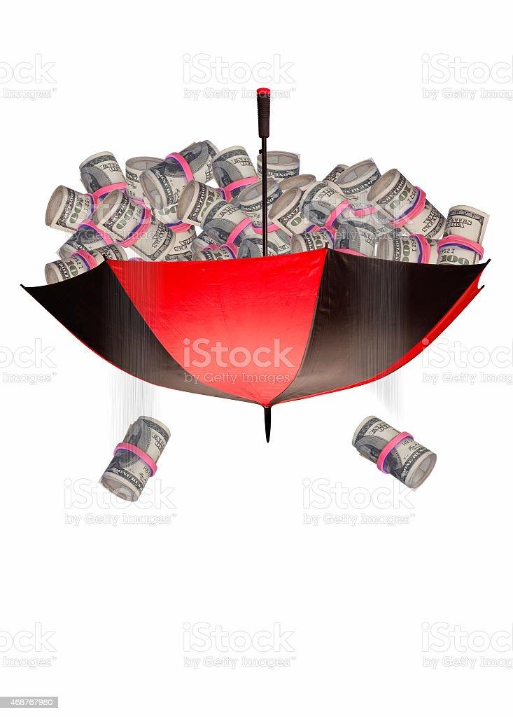 Cash Umbrella. stock photo