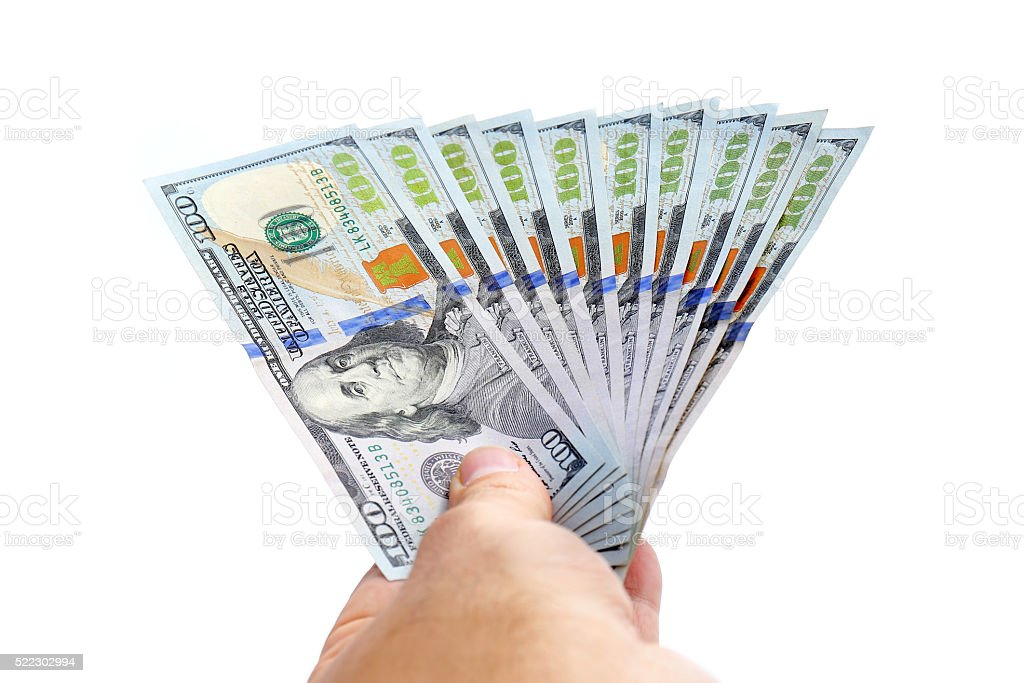 Cash,100 dollar banknotes stock photo