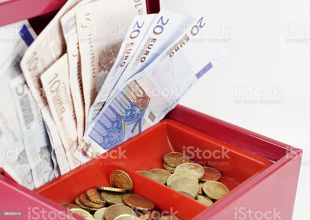 Cash-box royalty-free stock photo