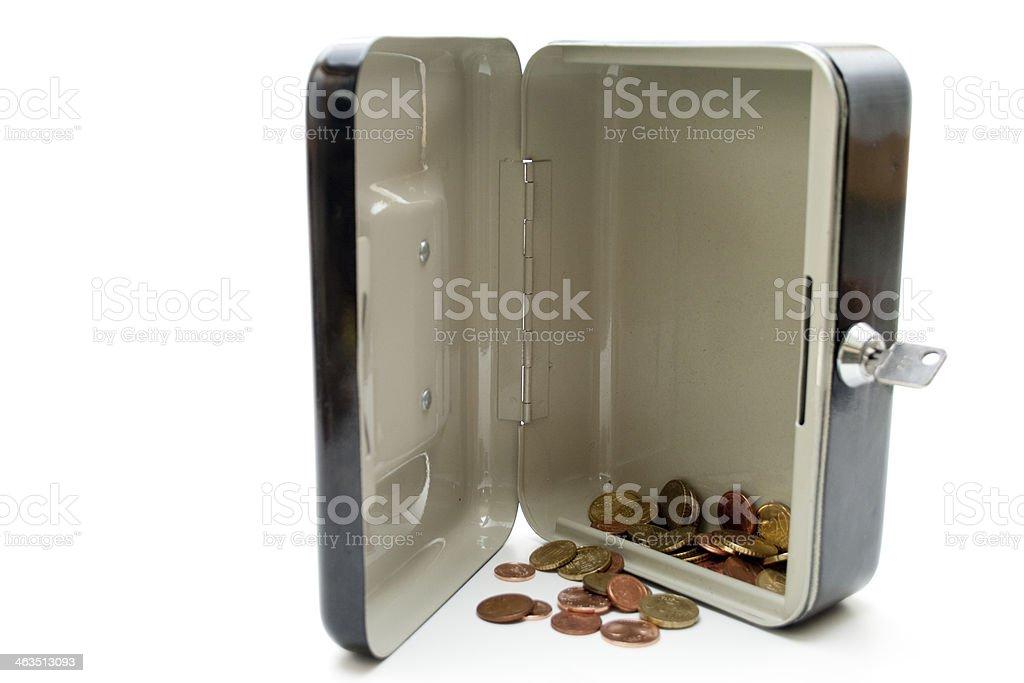 Cashbox with change stock photo