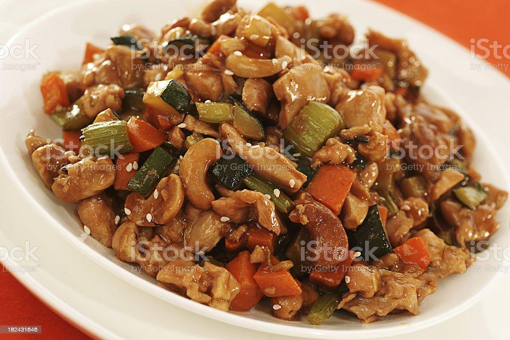 Cashew Chicken royalty-free stock photo