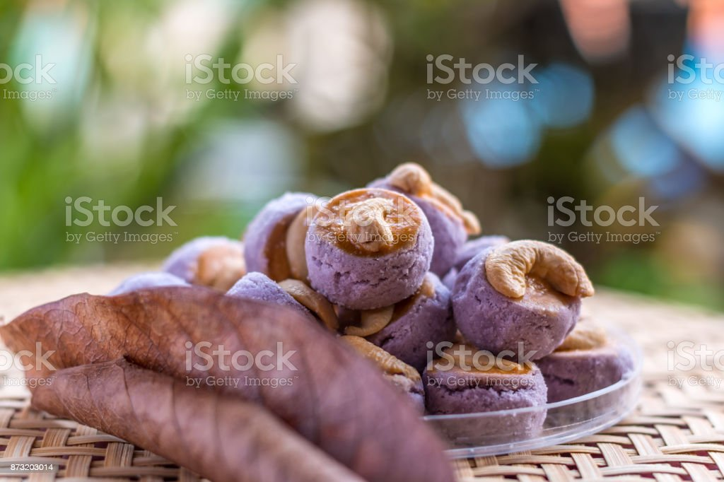 Cashew nut cookies stock photo