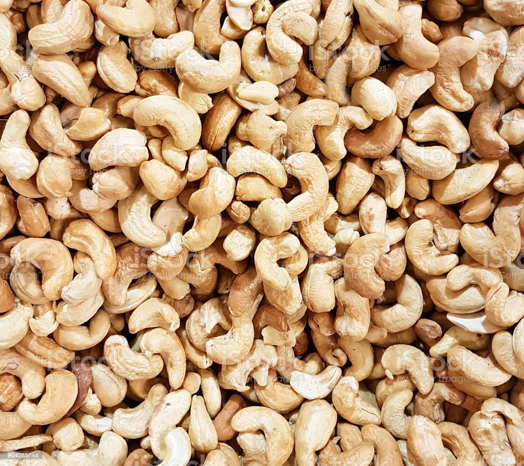 cashew nuts background stock photo