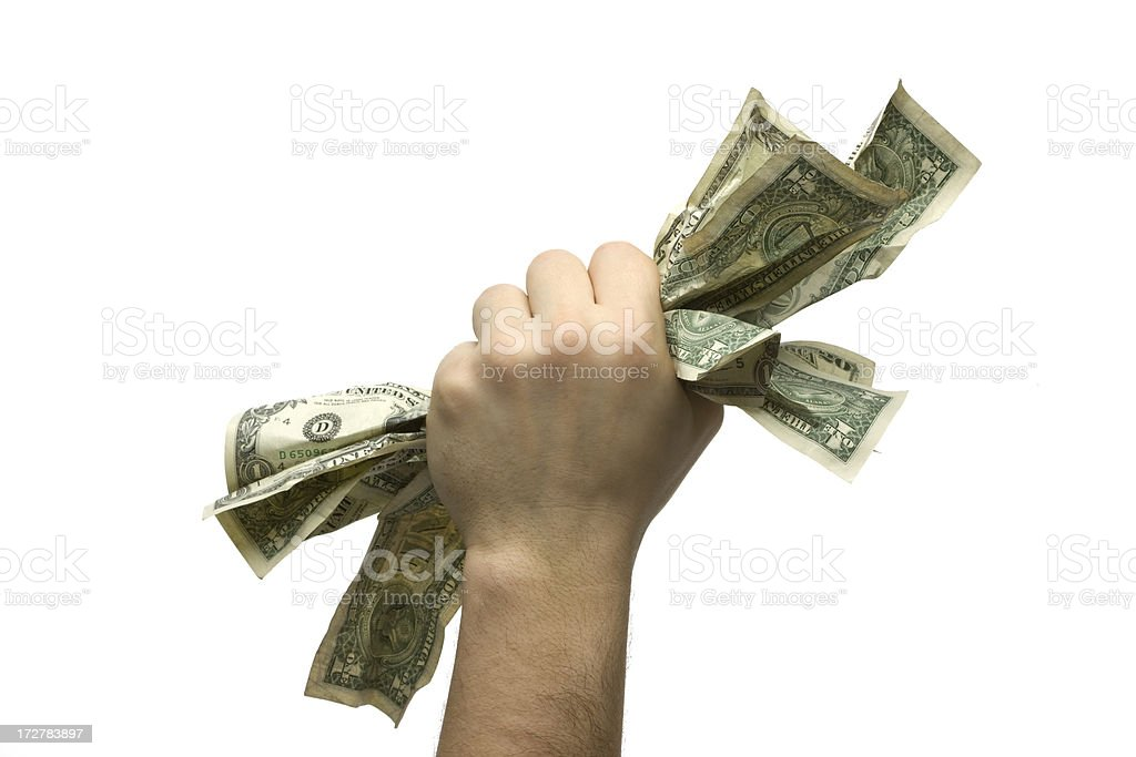 CashGrab From Below royalty-free stock photo