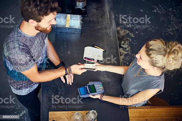 Cashier receiving credit card from man in cafe picture id599500032?b=1&k=6&m=599500032&s=612x612&h=nwrhjhwpannlpejiqflg5 ht 7qer5frmsbphk77xj4=