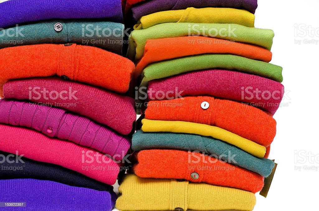 Cashmere, alpaca and merino wool sweaters stock photo