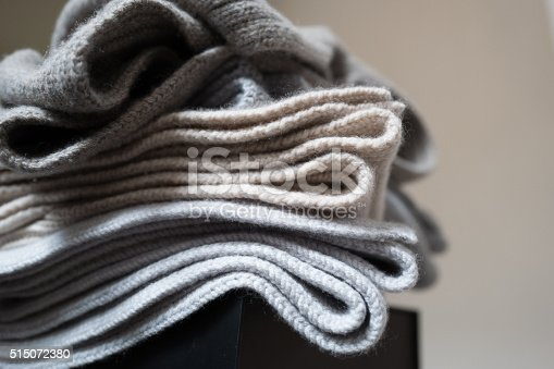 Luxury Blanket scarves stacked up