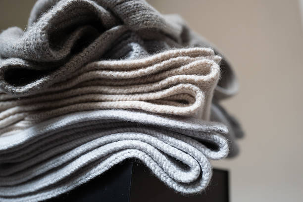 cashmere blankets - wool stock photos and pictures