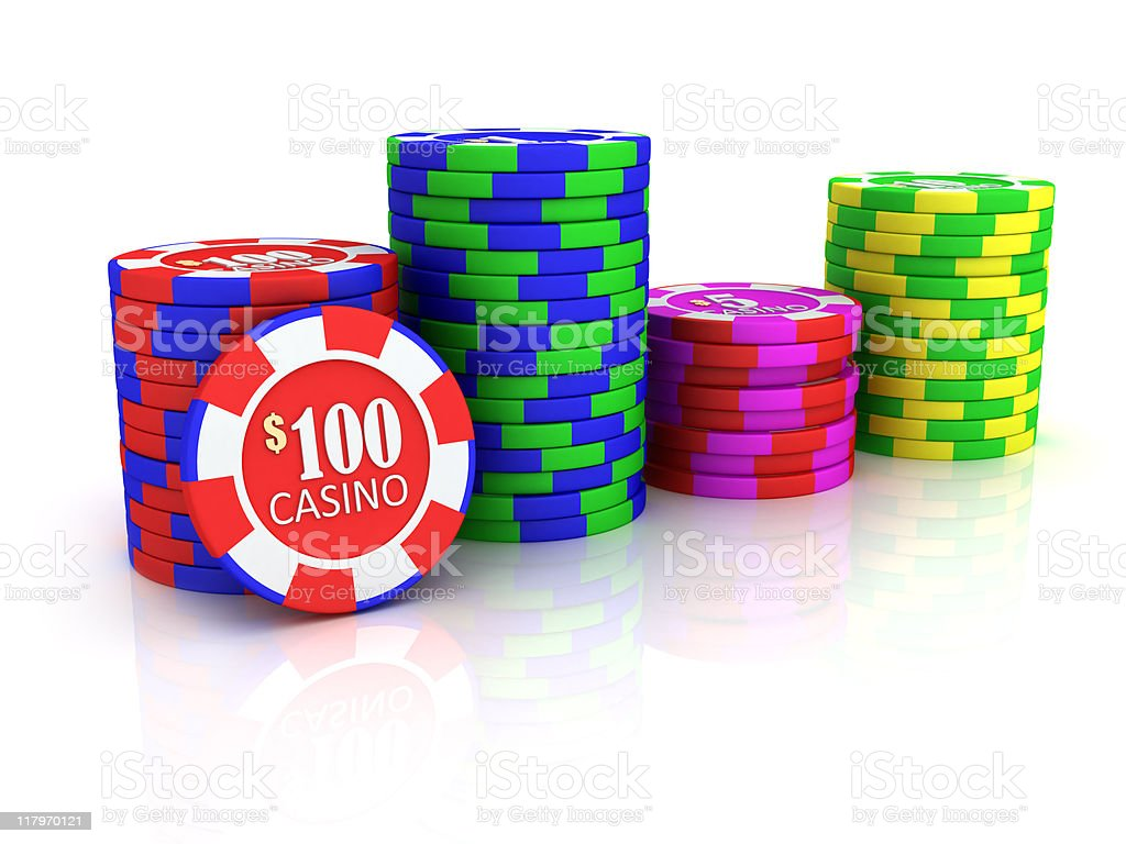 Casino chip royalty-free stock photo
