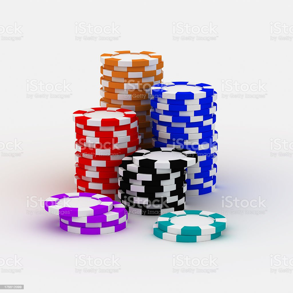 Casino chip stacks royalty-free stock photo