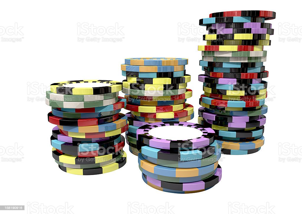 Casino Chip Stacks Top royalty-free stock photo