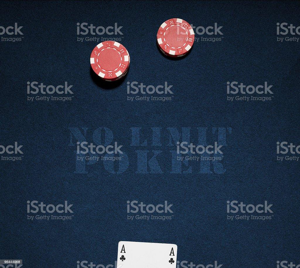 Casino-chips und ace – Foto