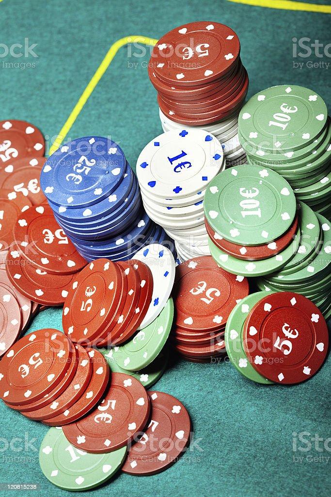 Casino chips royalty-free stock photo
