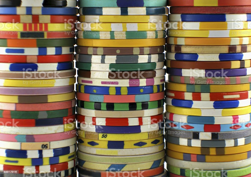 Casino-chips Lizenzfreies stock-foto