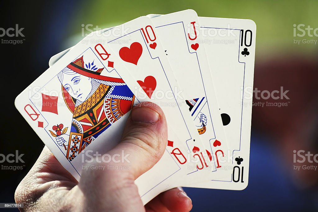 Casino concept - cards royalty-free stock photo