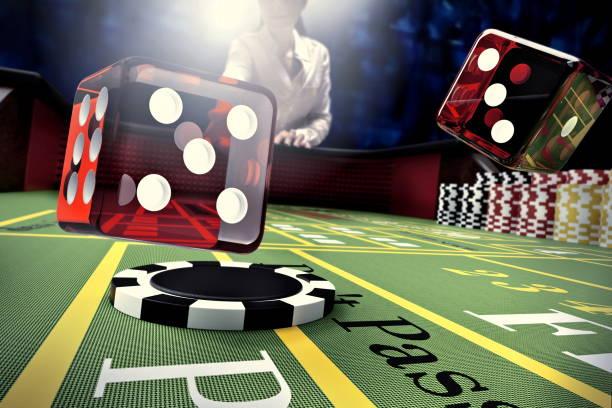 casino craps table stock photo