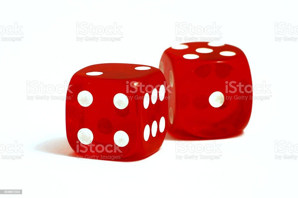 Casino dice royalty-free stock photo
