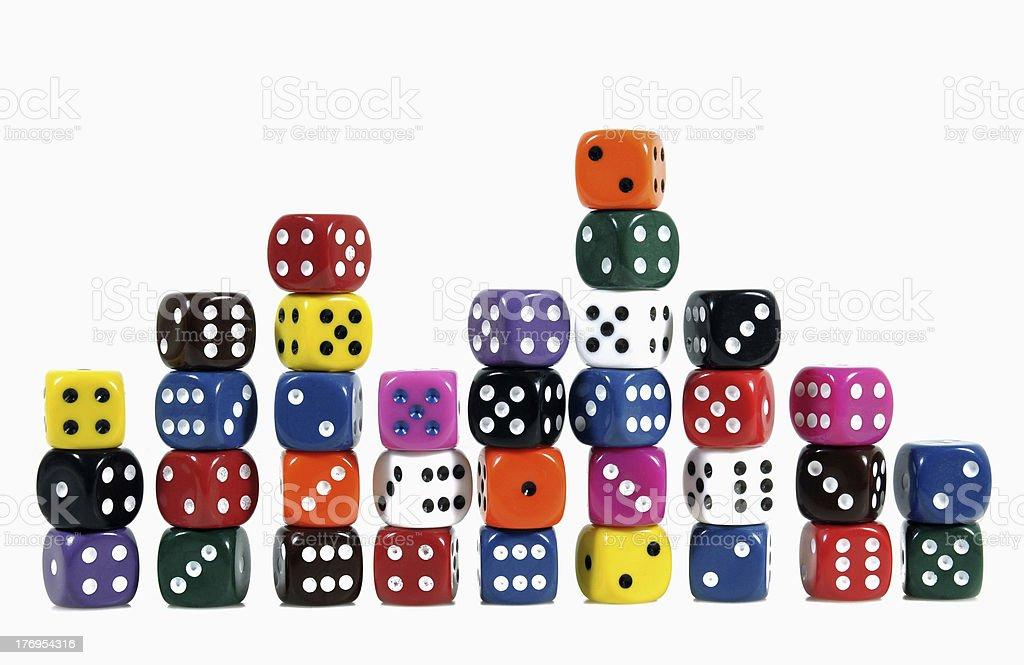 Casino Dices royalty-free stock photo