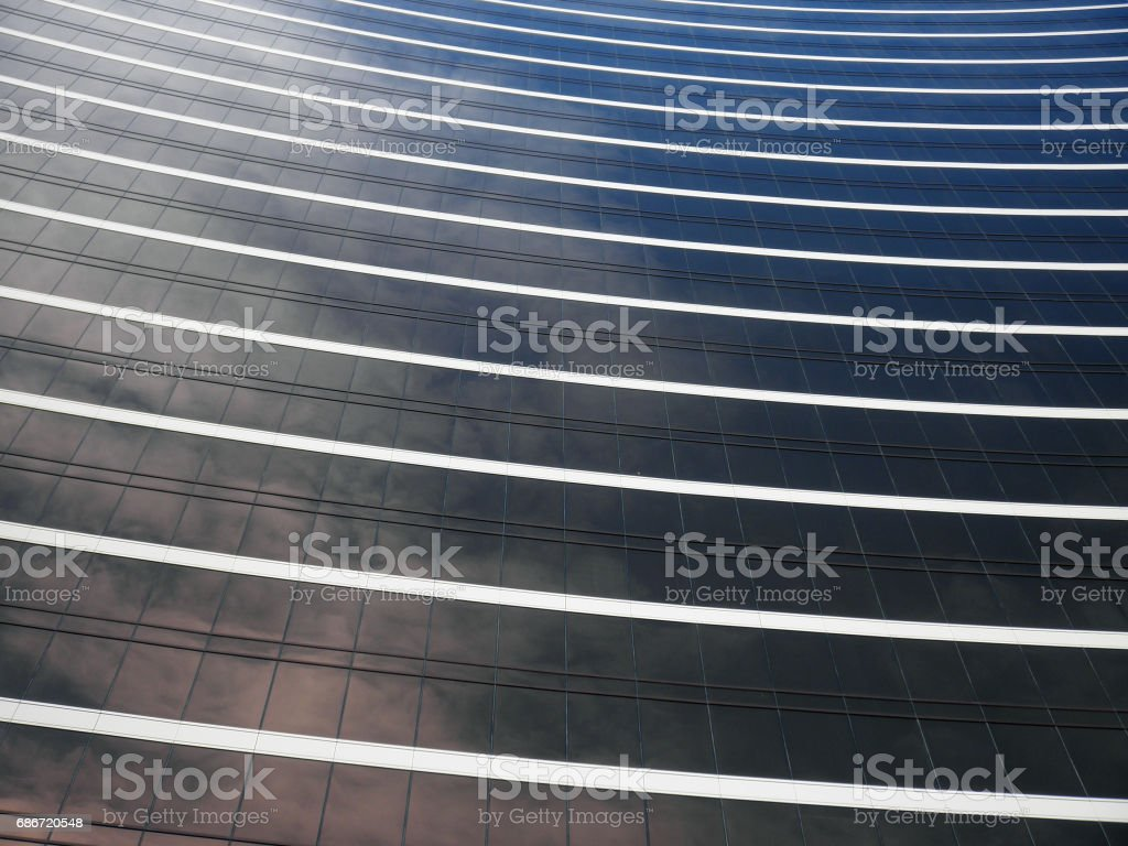 Casino Glass windows reflect the sky stock photo