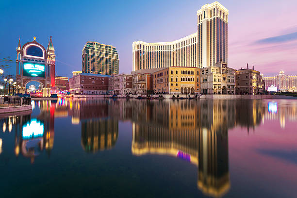 Casino Hotel macau stock photo