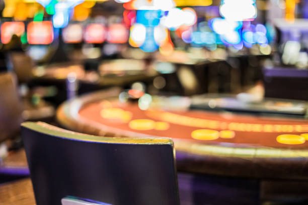 Casino Interior Defocused stock photo
