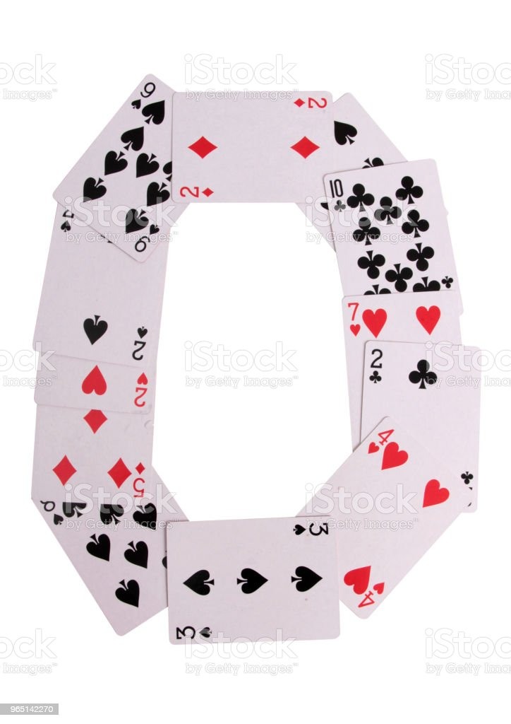 Casino logo cards royalty-free stock photo