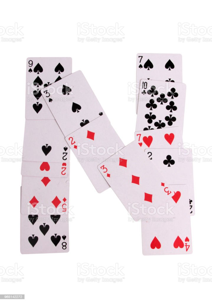 Casino logo cards royalty-free stock photo