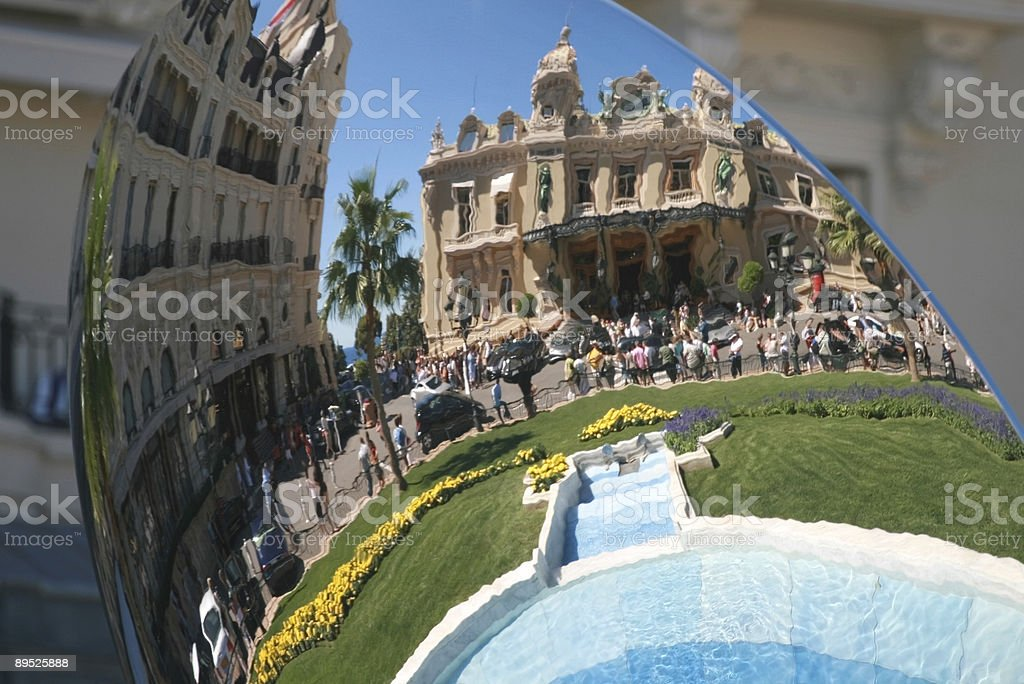 Casino Monte Carlo Mirror Reflection royalty-free stock photo