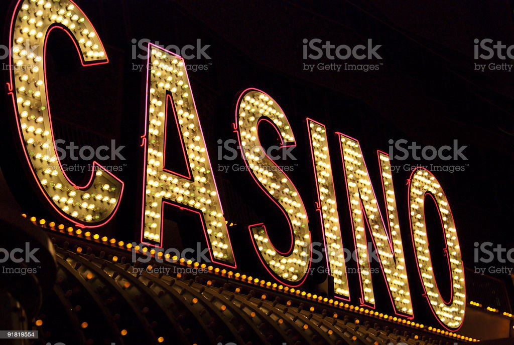 Casino Neon Sign royalty-free stock photo