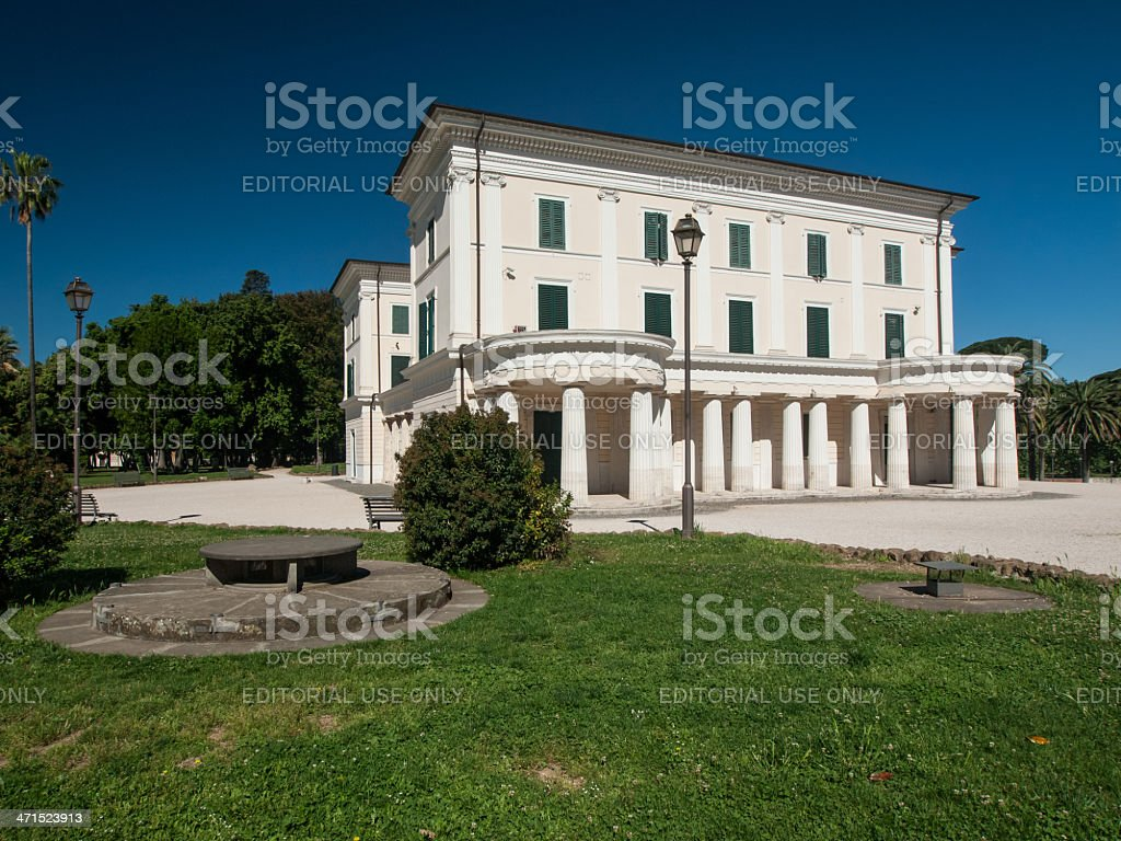 Casino Nobile and its bunker royalty-free stock photo