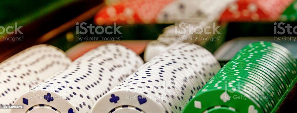 Casino  Poker Chips. stock photo