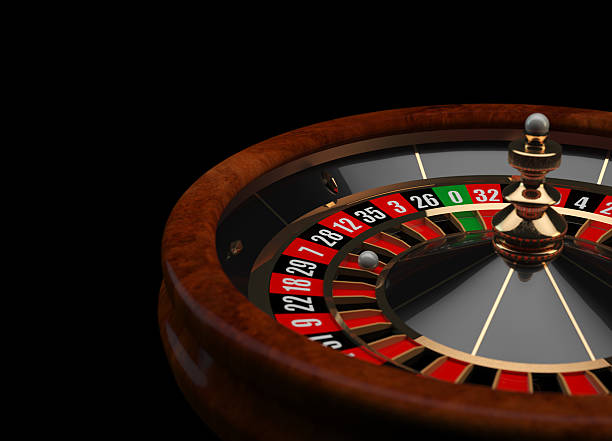 Casino Roulette 3D wheel stock photo