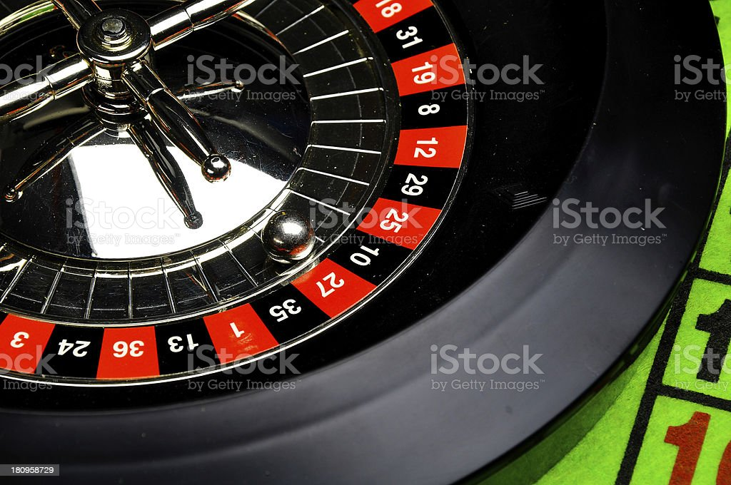 Casino, roulette, gambling games royalty-free stock photo