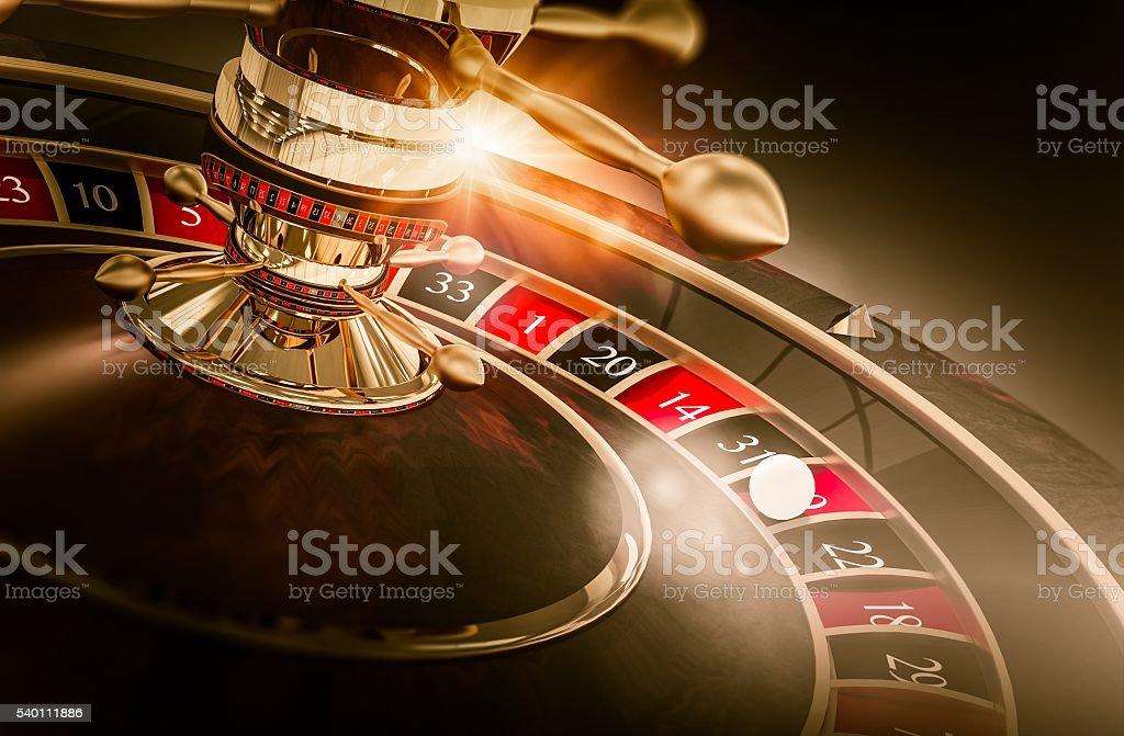 Casino Roulette Games stock photo