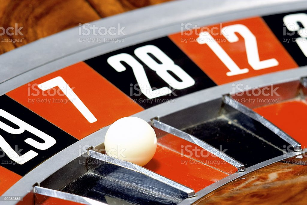 Casino, roulette royalty-free stock photo