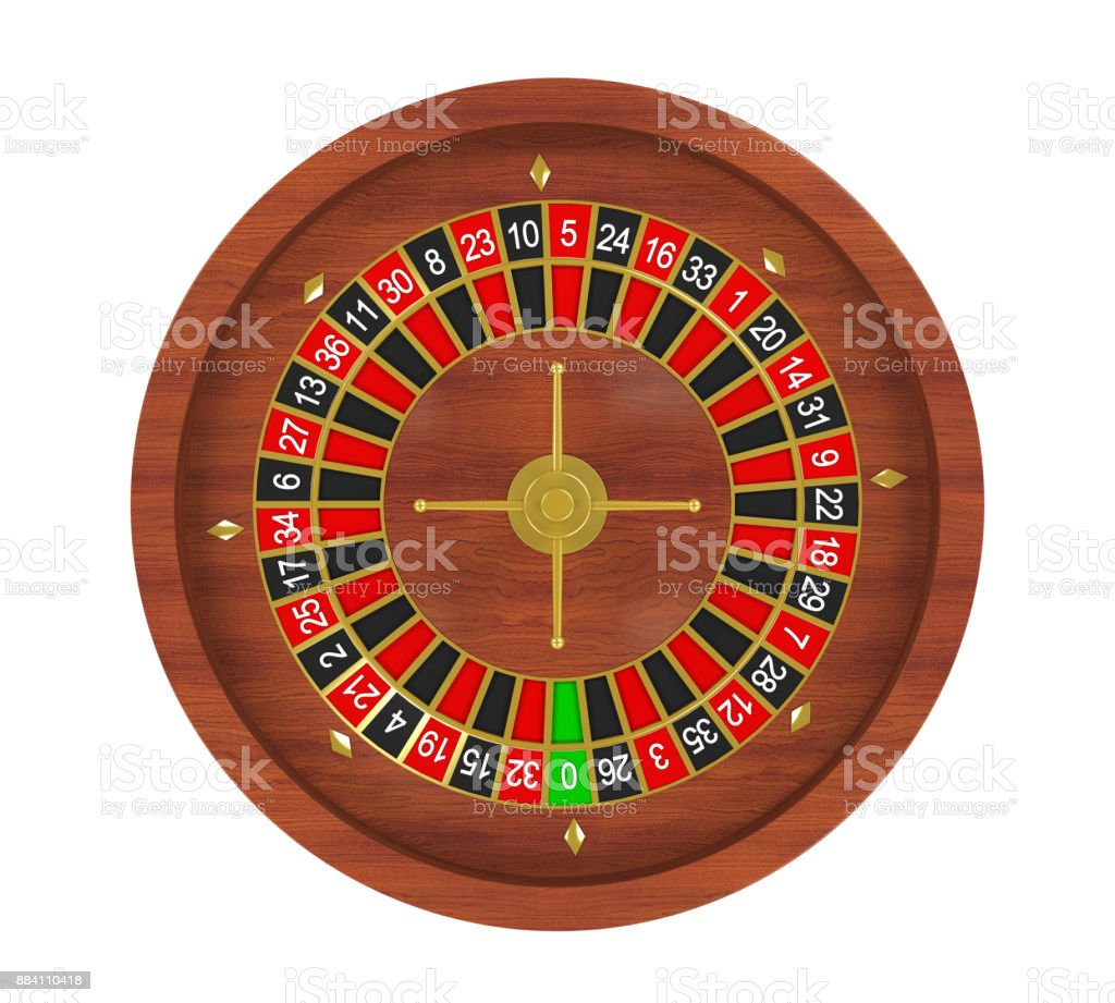 Casino Roulette Wheel Isolated stock photo