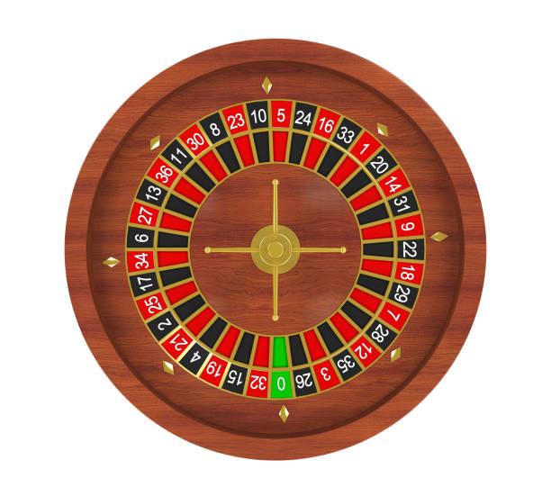 Casino Roulette Wheel Isolated stock photo