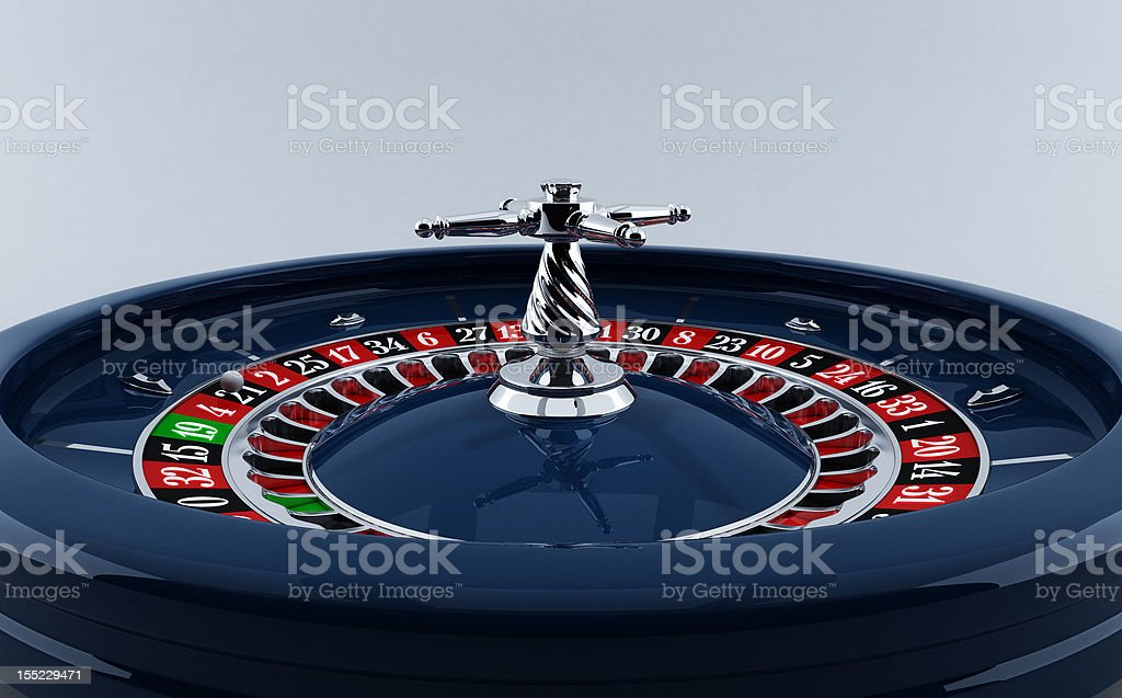 Casino roulette wheel royalty-free stock photo