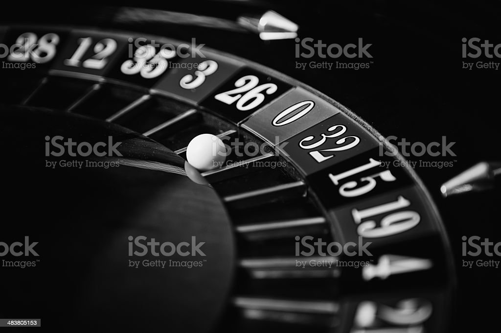 Casino - Roulette Wheel stock photo