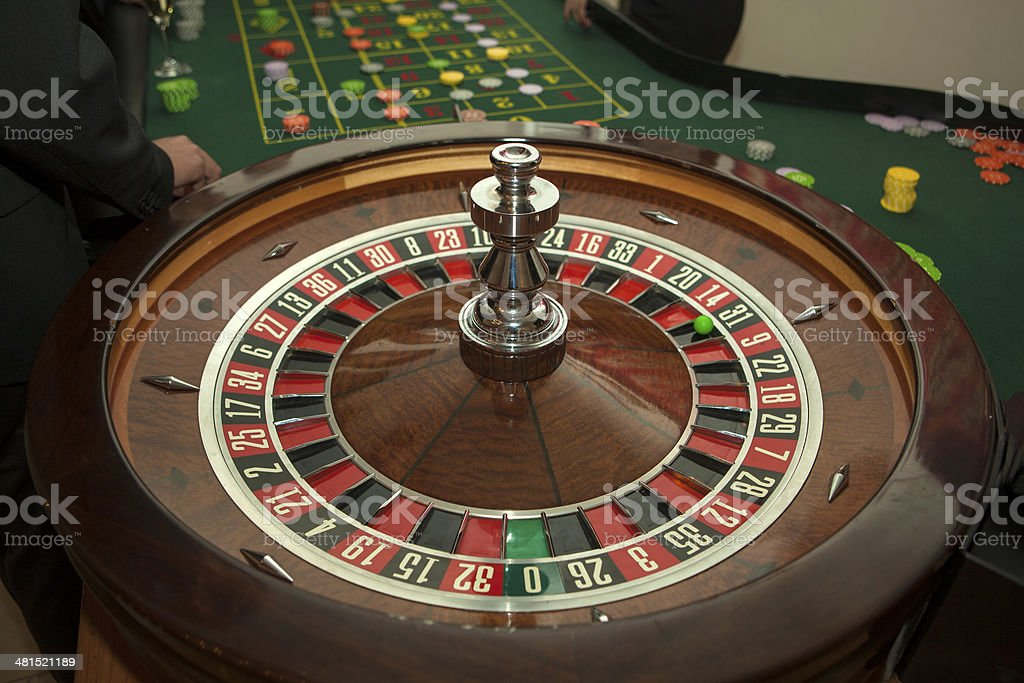 Casino Roulette  Wooden Wheel stock photo