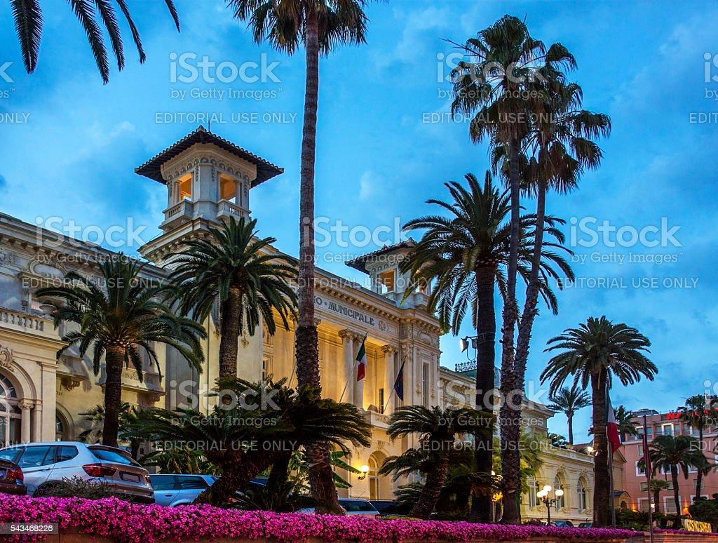 Casino - San Remo - Imperia -Italy. stock photo