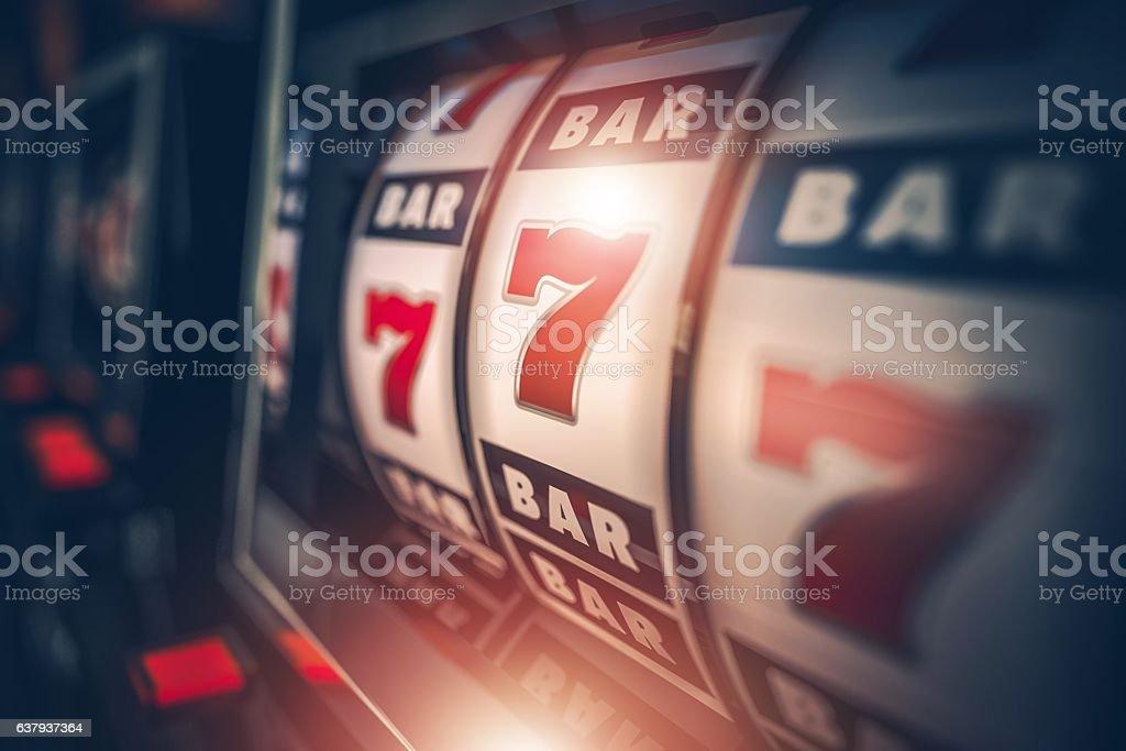 Casino Slot Games Playing stock photo