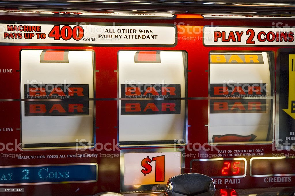 Casino Slot Machine Jackpot stock photo