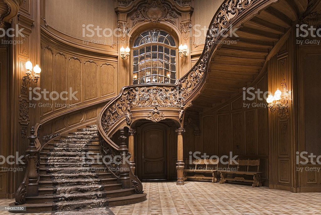 Casino stairs stock photo