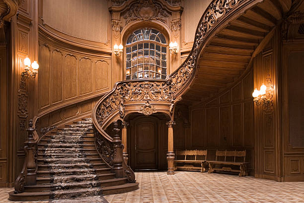 casino stairs - stately home stock photos and pictures