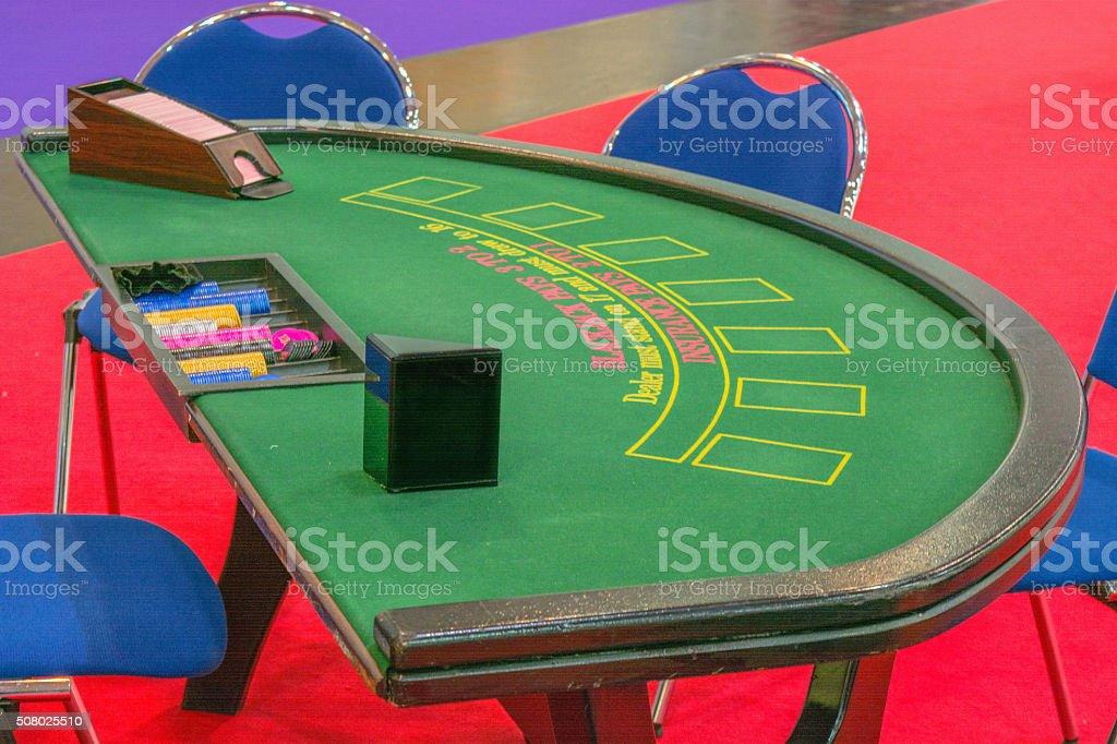 Casino table blackjack table stock photo