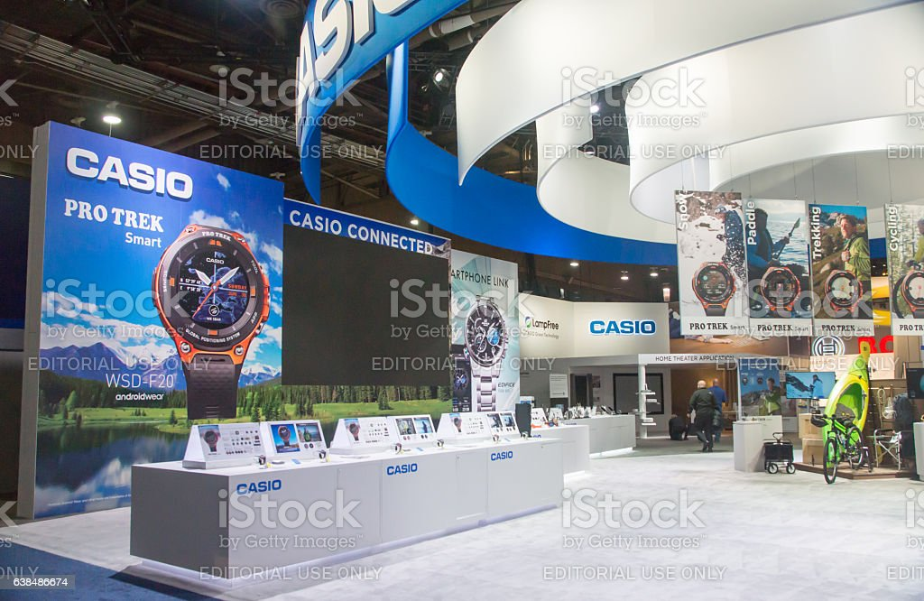 Casio Exhibit at CES 2017 stock photo