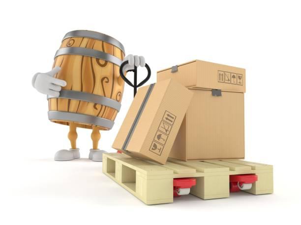 Cask character with hand pallet truck with cardboard boxes picture id1175650891?b=1&k=6&m=1175650891&s=612x612&w=0&h=fjspdzrjtzghflkx2xowl0jcclggpq2fropyxw9uj4w=